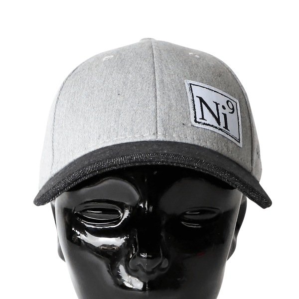 nickel 9 hat grey and black